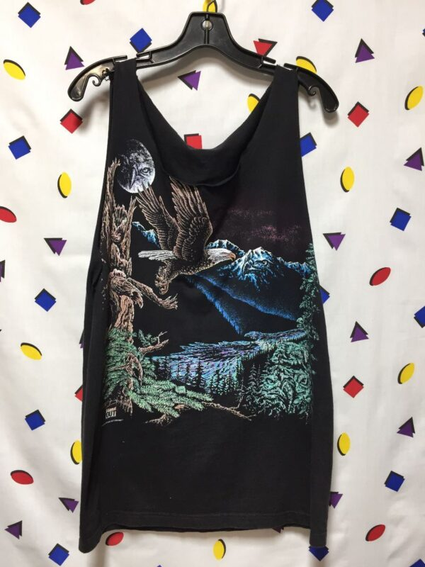 product details: TANK TOP CUT OFF MAJESTIC EAGLE PRINT photo