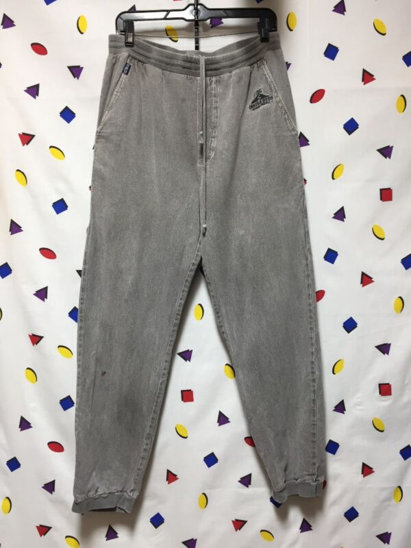 product details: 1980S-90S CRATER DYED WASHED TWILL JOGGERS photo