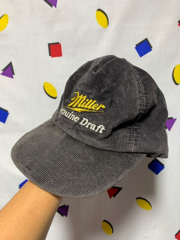 product details: FADED MILLER GENUINE DRAFT CORDUROY SNAPBACK DAD HAT photo