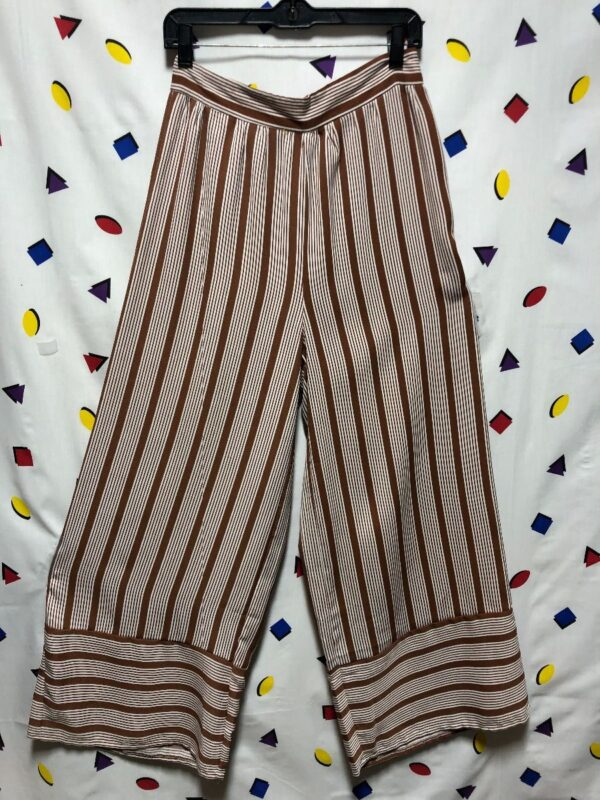 product details: FLOWY STRIPED WIDE LEG PANTS photo