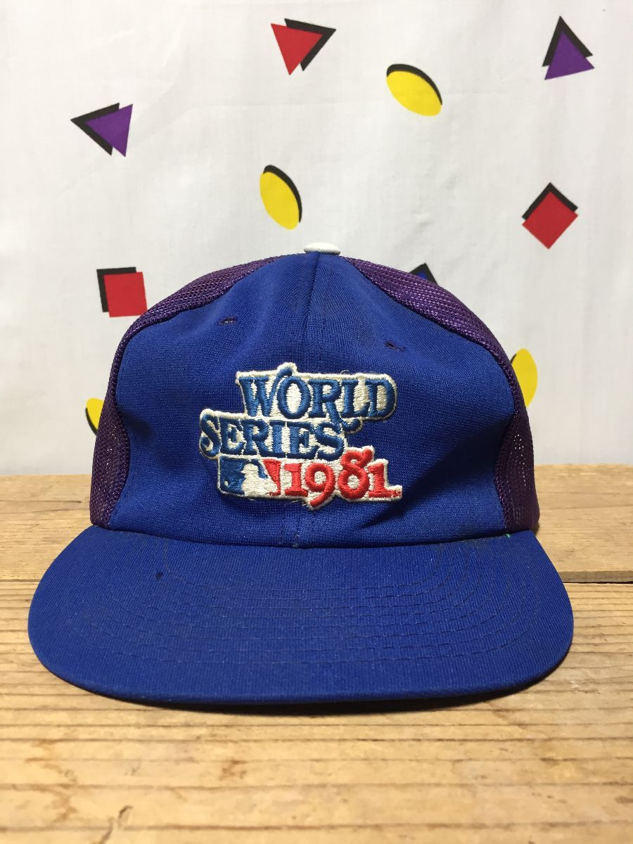 Distressed Vintage Mlb Dodgers 1981 World Series Trucker Hat As Is Boardwalk Vintage