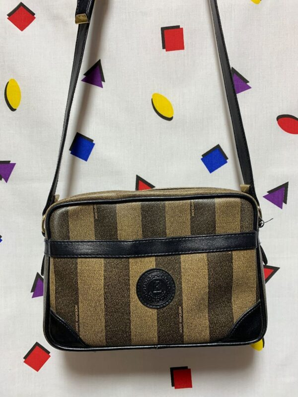 product details: STRIPED SHOULDER BAG photo