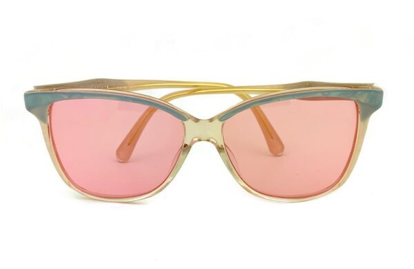product details: RARE & UNIQUE GUCCI MOTHER OF PEARL FRAMED SUNGLASSES WITH CUSTOM COTTON CANDY PINK LENSE photo