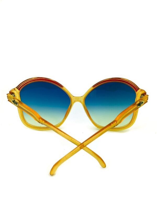 product details: VINTAGE 1970S DIOR OVERSIZED BUTTERFLY FRAME SUNGLASSES CUSTOM GRADIENT LENSES photo