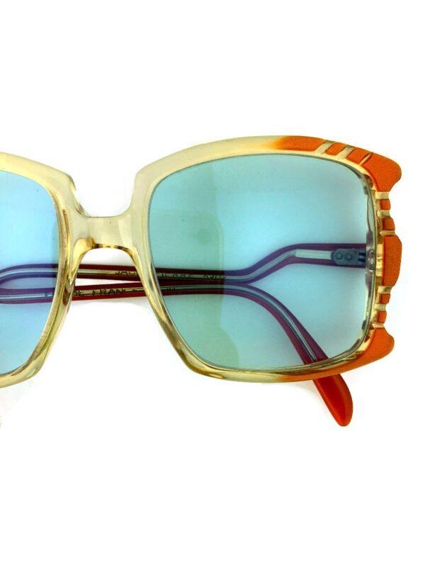 product details: AMAZING 1970S OVERSIZED CARVED FRAME SUNGLASSES CUSTOM FLASH COATED BLUE LENSES photo