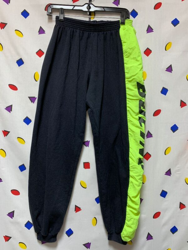 product details: 1980S BOEING SWEATPANTS WITH ELASTIC WAIST AND NEON RACING STRIPE photo