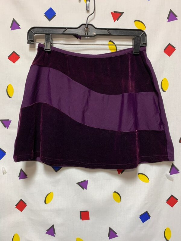 product details: 1990S SWEET LITTLE VELVET STRETCHY MINI SKIRT BATHING SUIT BOTTOM photo