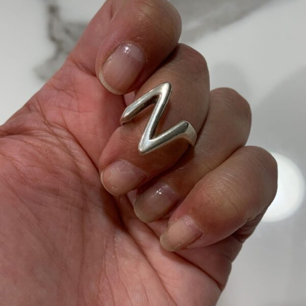 product details: STERLING SILVER 925 ZIGZAG SHAPE RING photo