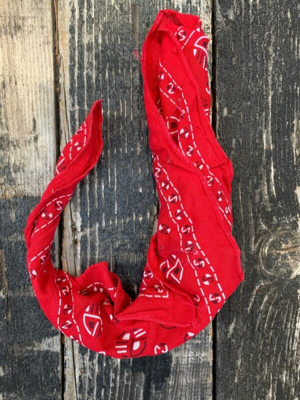product details: SUPER COOL INTERESTING PRINT COTTON BANDANA AS-IS photo