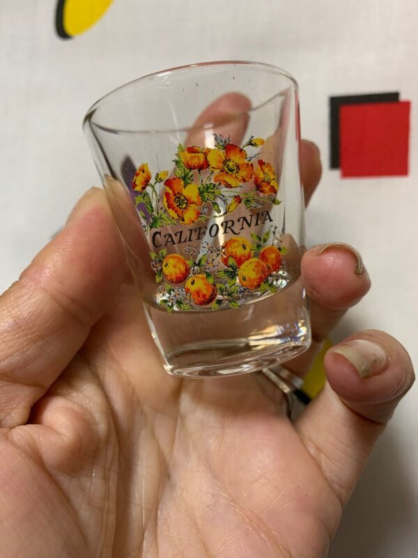 product details: VINTAGE CALIFORNIA POPPY POPPIES SHOT GLASS photo
