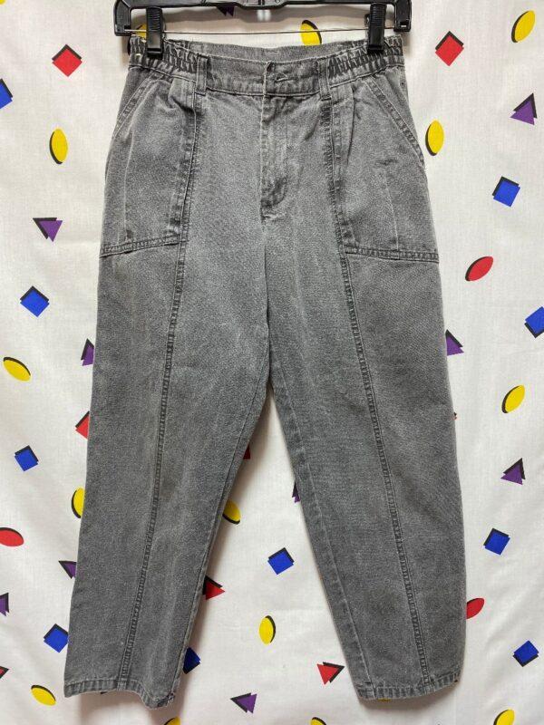 product details: DOCKERS FADED DENIM PANTS ELASTIC WAIST photo