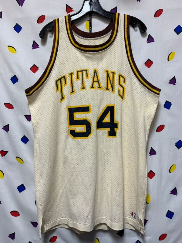 product details: RETRO BASKETBALL JERSEY TITANS #54 AS-IS photo