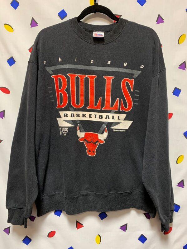 product details: RETRO NBA CHICAGO BULLS PULLOVER SWEATSHIRT JORDAN ERA AS-IS photo