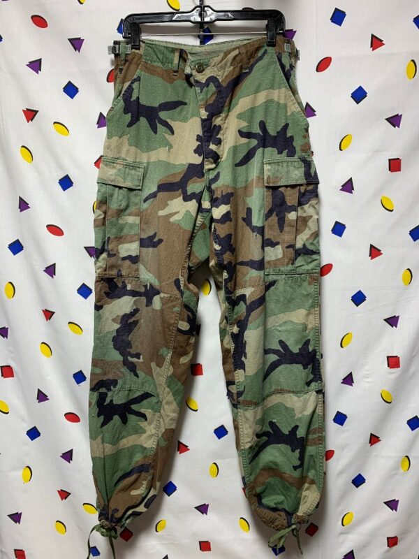 product details: CAMO CARGO PANTS \PEREZ\ BACK POCKET AS-IS photo
