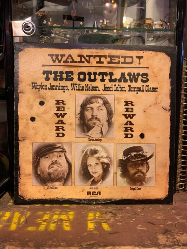 product details: WANTED! THE OUTLAWS- WAYLON JENNINGS, WILLIE NELSON, JESSI COLTER, TOMPALL GLASER ? photo