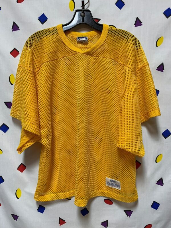 product details: RETRO CROPPED & NETTED PRACTICE JERSEY TOP photo