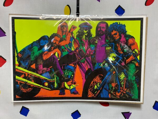 product details: PSYCHEDELIC MOTORCYCLE CLUB POSTER NEON COLORS photo