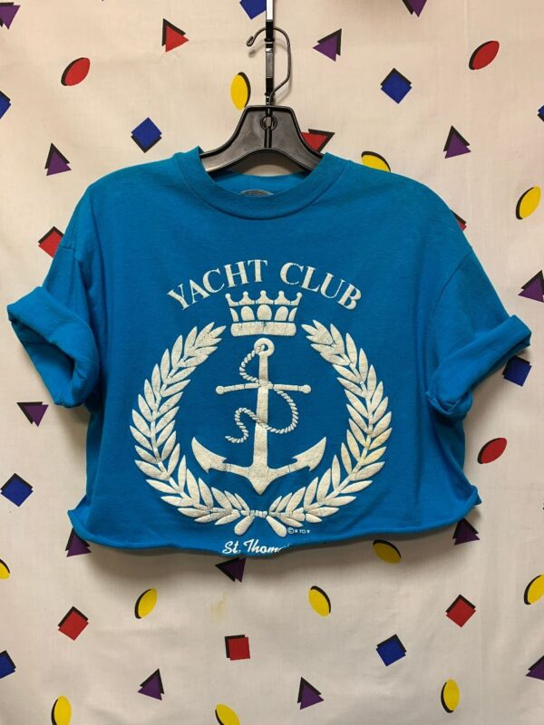 product details: TSHIRT YACHT CLUB ST THOMAS 1980S - NOW CROPPED! photo