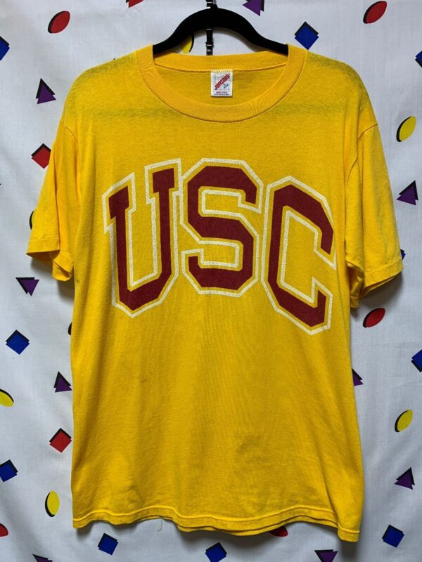 product details: RETRO USC TROJANS LOGO TSHIRT UNIVERSITY OF SOUTHERN CALIFORNIA AS-IS photo