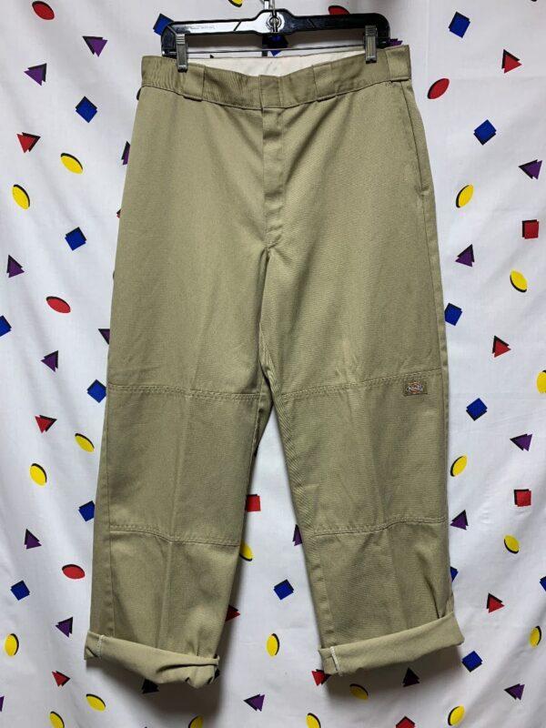 product details: 1990S RETRO KHAKI DICKIE WORKWEAR PANTS photo