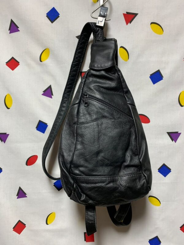 product details: LITTLE LEATHER TRIANGLE CONVERTIBLE BACKPACK photo