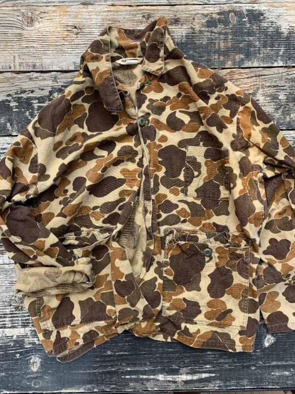 product details: RAD BAPE STYLE RANGER BRAND BROWN MULTI FROGSKIN CAMO CARGO POCKET MILITARY JACKET photo