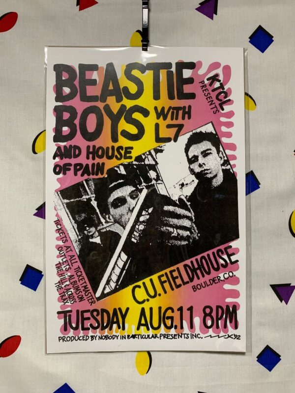 product details: BEASTIE BOYS WITH L7 & HOUSE OF PAIN POSTER - BOULDER, CO photo