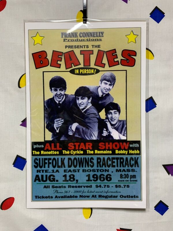 product details: FRANK CONNELLY PRESENT THE BEATLES IN PERSON POSTER ALL STAR SHOW photo