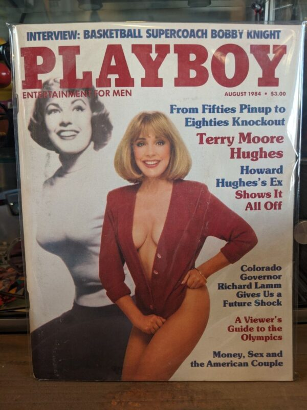 product details: PLAYBOY MAGAZINE - AUG 1984 - TERRY MOORE HUGHES photo