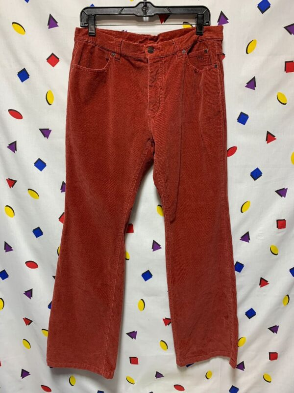 product details: 1990S EARLY Y2K HARLEY DAVIDSON CORDUROY PANTS FLARED LEG photo