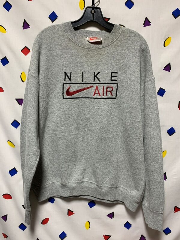 product details: NIKE AIR EMBROIDERED LOGO CREW NECK SWEATSHIRT photo