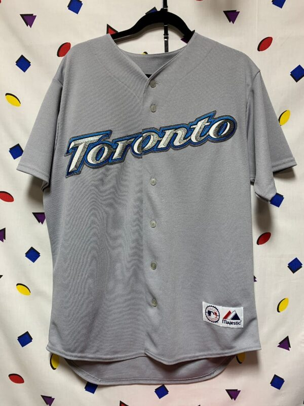 product details: MLB TORONTO BLUE JAYS #10 DAVID WELLS BASEBALL JERSEY photo