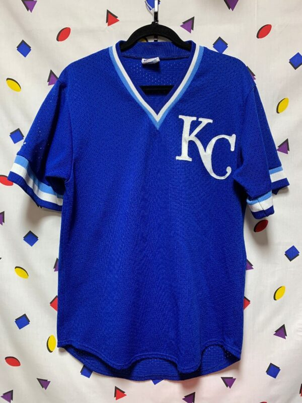 product details: MLB KANSAS CITY ROYALS WARM UP BASEBALL JERSEY KC photo