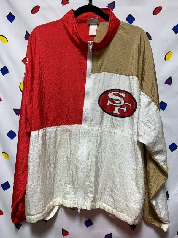 product details: NFL SAN FRANCISCO 49ERS COLORBLOCK WINDBREAKER SF photo
