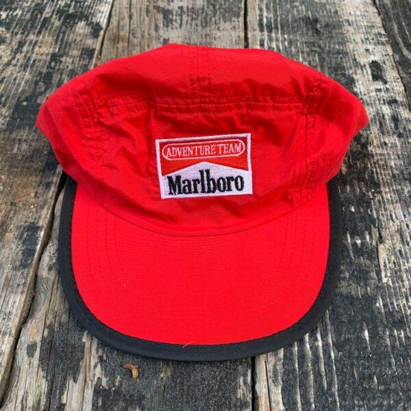 product details: 1980S MARLBORO ADVENTURE TEAM 5 PANEL STYLE HAT photo