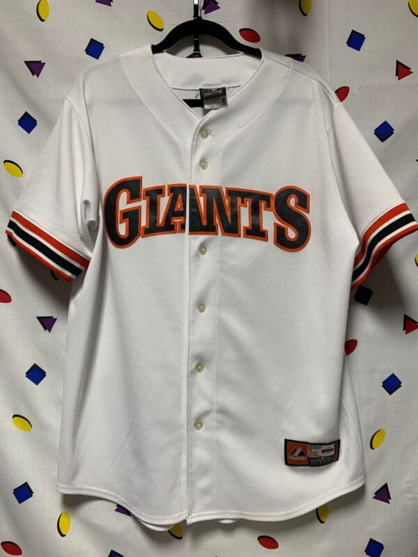 product details: SAN FRANCISCO GIANTS SS BD MLB BASEBALL JERSEY WITH STRIPED SLEEVE EDGES photo