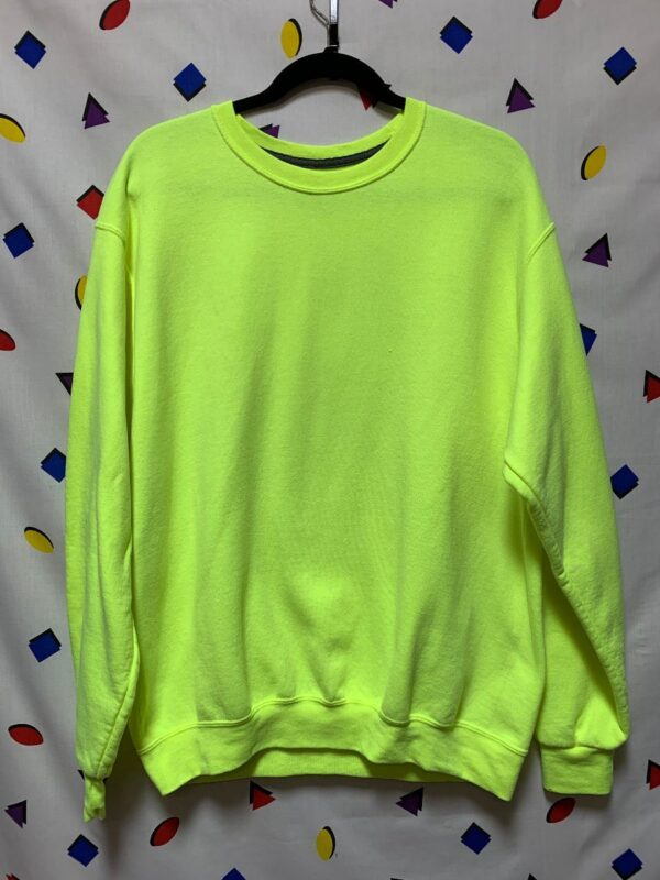 product details: NEON YELLOW HIGHLIGHTER LONG SLEEVE SWEATSHIRT TAG-LESS photo
