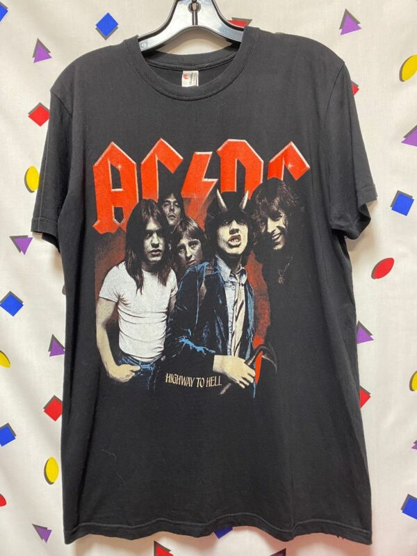 product details: AC/DC HIGHWAY TO HELL BAND PORTRAIT GRAPHIC T-SHIRT photo