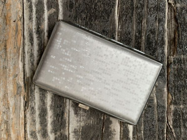 product details: HARD SHELL SILVER DISCO BALL CARD WALLET photo