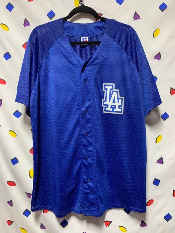 product details: L.A. DODGERS LOGO PATCH WARMUP JERSEY photo