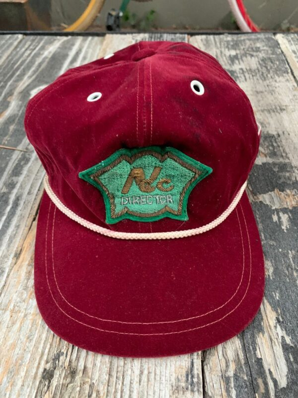 product details: CLASSIC VELVET DIRECTOR TRUCKER HAT WITH ROPE photo