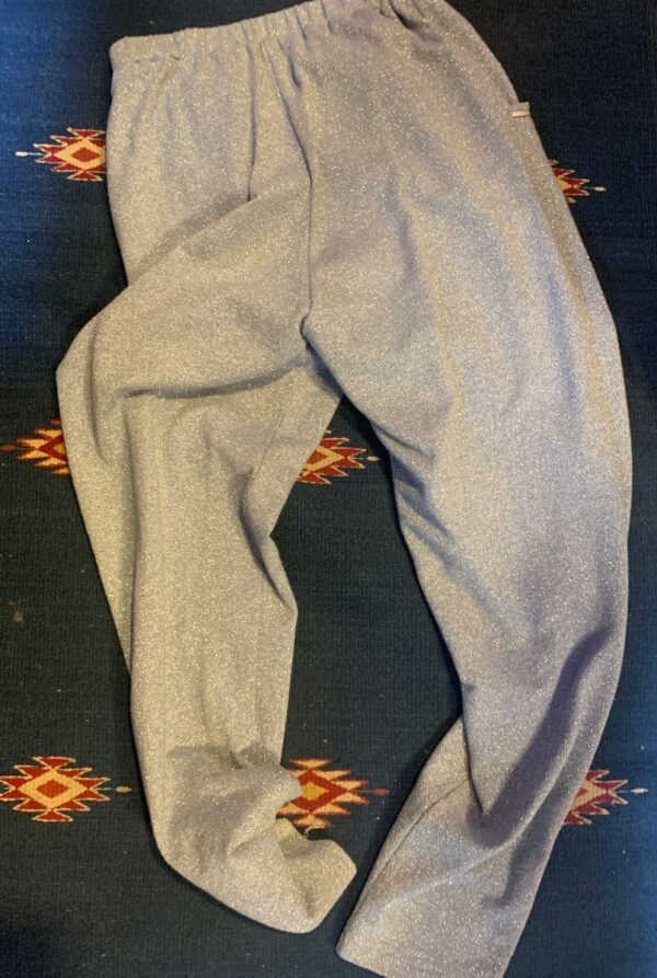 product details: PANTS SHIMMERY TAPERED LEG BRAIDED POCKET TRIM photo