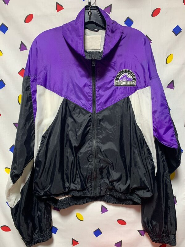product details: COLORADO ROCKIES ZIP UP COTTON LINED WINDBREAKER JACKET WITH POCKETS photo