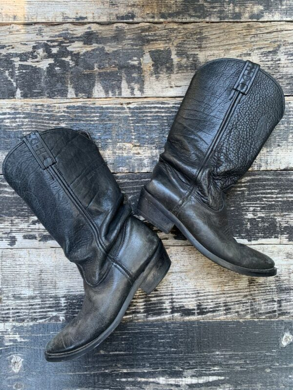 product details: EMBOSSED EAGLE HARLEY DAVIDSON LEATHER COWBOY BOOTS photo