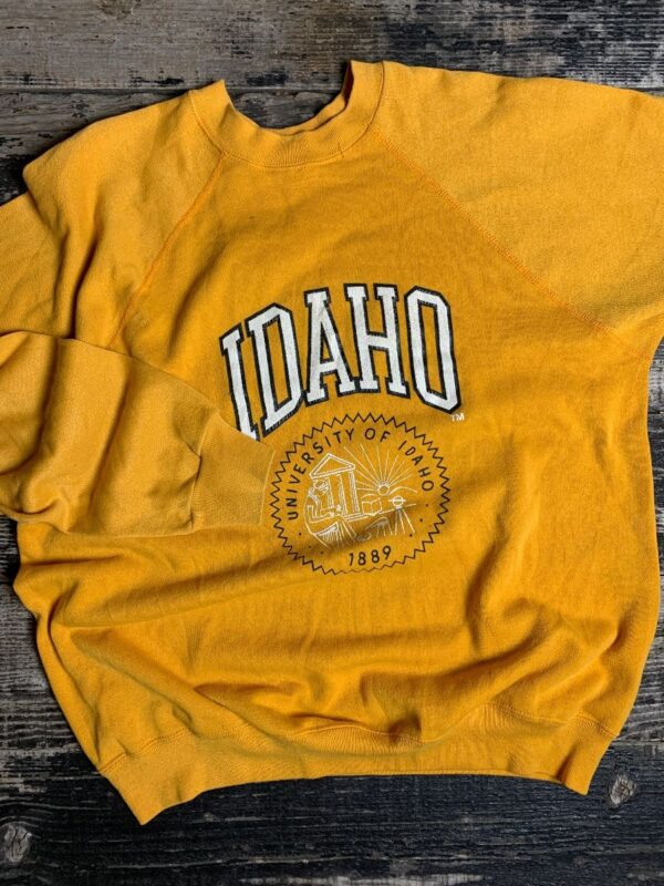 product details: VINTAGE ORIGINAL UNIVERSITY OF IDAHO 1889 COLLEGE SWEATSHIRT photo