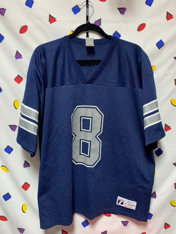 product details: OFFICIAL NFL DALLAS COWBOYS 8 TROY AIKMAN FOOTBALL JERSEY AS-IS photo