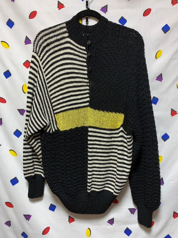 product details: HEAVY BEAUTIFUL PATTERN KNIT STRIPED SWEATER 11-36 AS-IS photo