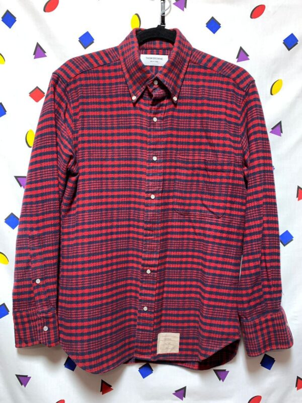 product details: RICH PLAID DESIGN FULL SNAP UP CASUAL FLANNEL WITH FRONT BREAST POCKET photo