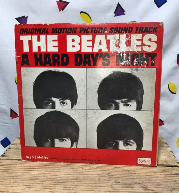product details: THE BEATLES A HARD DAYS NIGHT SOUNDTRACK ROCK AND ROLL POP ROCK LP ALBUM CANT BUY ME LOVE photo
