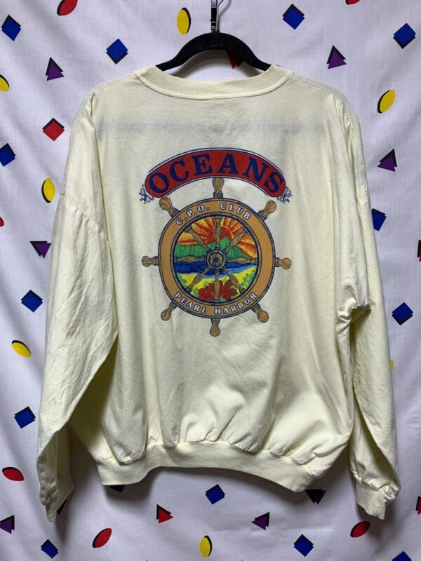 product details: 1980S LIGHT WEIGHT PULLOVER SWEATSHIRT OCEANS C.P.O. CLUB AS-IS photo